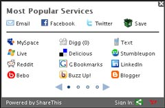 share this most popular social media icons