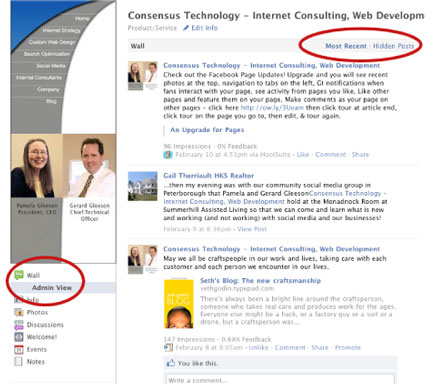 new facebook pages allow admins to see chronologyical order and spam posts