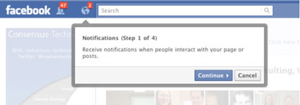 get notifications on your new facebook page