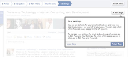 to select pages to appear in likes as featured go to the featured section of your settings page