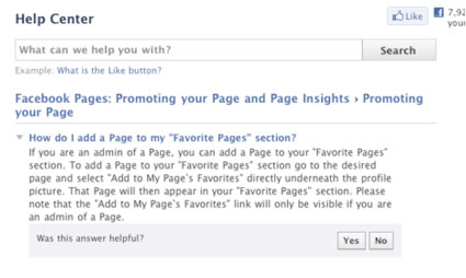 facebook pages instructions - how to like another page